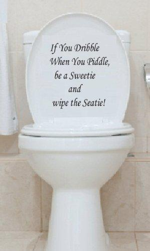 English Toilet Seat Wall Post Decal Art Wallpaper Hanging