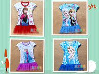 TuTu Summer TUTU Factory directly stockings EMS FEDEX discount summer dress 2014 baby girls dresses frozen Princess Gauze Anna Elsa kid apparel 14MAY54