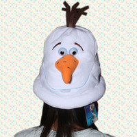Wholesale 2014 New Lovely cartoon movie Frozen OLAF plush hat the Snowman cap Plush Doll Stuffed Toy