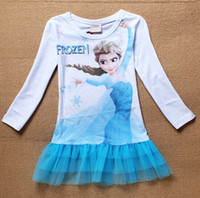 New arrive 6 pcs lot frozen dress Elsa summer dress girls Pr...