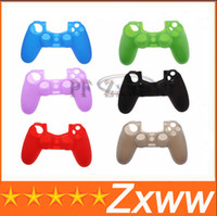 Cheap Free Shipping New Arrival Soft Silicone Protective Sleeve Case Skin Cover for PlayStation 4 PS4 HZ 380