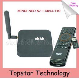 Pc hd en Ligne-Vente en gros-2014 MINIX NEO X 7 Android TV Box + MeLE F10 Flying Air Mouse RK3188 Quad Core Mini PC 2 / 16G OTG XBMC AirPlay DLNA Smart TV Box