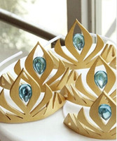 Wholesale Frozen elsa Queen s crown cosplay Coronation crown frozen crown Headdress tiara gold yellow cm EVA