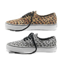 Wholesale New brand leopard print classic canvas shoes leisure skateboard shoes flat sole