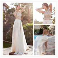 2014 Julie Vino Vintage High Collar Prom Dresses Sweep- Train...