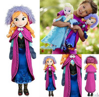 Wholesale of frozen baby princess cm elsa Anna child baby plush toys plush dolls Brinquedos girl dolls frozen plush toys to