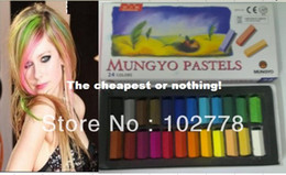 2012 dhl promotion Fashion New 576Pieces Temporary Hair Chalk Color Dye Pastel Chalk ,hair care Bug Rub Soft Bar 24pcs/set