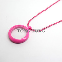 Lockets fresh Children's buy locket give chain as gift 30mm Magnetic Closure Pink Plastic Floating Charm Locket Living Locket without Crystals