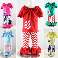 Cheap Retail ! summer 2014 Baby girl's clothing set 2pcs Winnie Peasant top + ruffle pants clothing suits for girls Free shipping