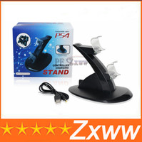 Cheap Free Shipping Controller Charging Stand for Sony Playstation PS4 Dual Charger Dock for PS 4 Controllers HZ 382