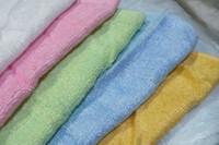 al por mayor toallitas bambúes-100% de Fibra de Bambú de la CARA de la ARANDELA TOALLA Toalla de baño Toalla de franela barrido mixto de color 25x25CM