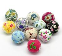 Wholesale 20PCs Mixed Handmade Woven Cloth Acrylic Round Beads mm quot Dia