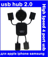 Wholesale New Mini PC humanoid usb hub High Speed port usb charger Sharing Switch for apple iphone samsung galaxy