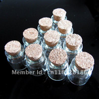 Cheap 5.0 ml Wholesale Lots 10 Pcs 22x30 mm Tiny Small Clear Cork Glass Bottles Vials For Wedding Holiday Decoration Christmas Gifts