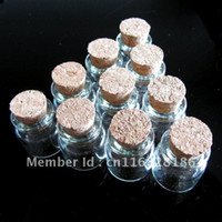 Cheap 4.0 ml Wholesale Lots 10 Pcs 22x25 mm Tiny Small Clear Cork Glass Bottles Vials For Wedding Holiday Decoration Christmas Gifts