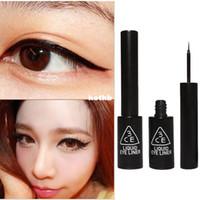 Cheap Wholesale-3CE Super Slim Eyeliner Gel Black Stylenanda Waterproof Smooth Makeup Eyeliner Gel Pen 6.5ML Fast Dry Eye Stickers Eyeliner