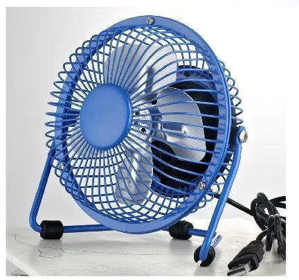 product mini usb fan  inch metal head rotate