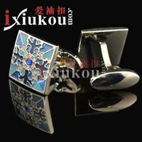 Wholesale Rome explosion models high end enamel cufflinks Cufflinks pattern Men French coin cufflinks YW