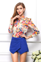 Wholesale Drop shipping New summer Women clothing Chiffon Blouse Women Long Sleeve Floral Pattern Cardigan Tops s