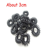 Wholesale 3 cm Telephone Wire Cord Hair Bands Scrunchy For Girl Hair Elastic Headband Rubber Band Ponytail Holders Gum Headwear