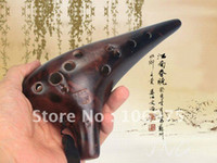 Wholesale MASTERPIECE CLASSIC FUMIGATED HOLE ALTO C POTTERY CERAMIC OCARINA FLUTE MUSICAL INSTRUMENT