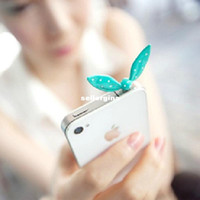 Wholesale holesale Little rabbit ears butterfly shape alloy dust plug dust plug dust plug factory direct phone DHL