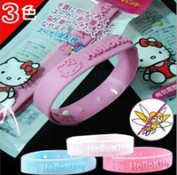 Cheap free shipping hello kitt new natural Mosquito insect bracelet band writst band Repellent Bracelet