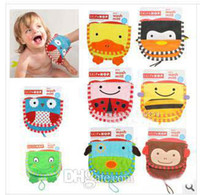 Wholesale Hot sale Fashion SKP for baby Bath Gloves cute cartoon designs styles can choose