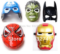 Wholesale Hot sale LED Glowing Lighting Mask avengers Hulk Captain America Batman Spiderman Ironman Party Mask amp Boy Gift
