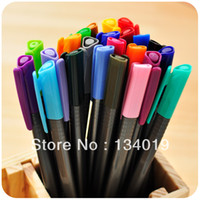 Wholesale Stationery Single head refills triangular barrel fresh color pen watercolor pen