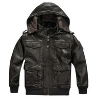 Wholesale 2014 New Fashion Children Boy Leather Outerwear amp Jackets Size cm Hooded Collar Design Kids Winter Coats P715178