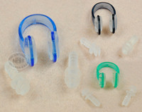 Wholesale Soft Silicone Swim Swimming Nose Clips Ear Plugs Earplugs Gear different color