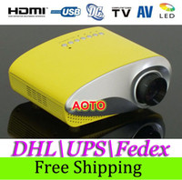 Wholesale Worldwide lumens LED Projector portable mini led HDMI support D TV home theater projector full HD video games PS3 proyector VGA PC USB
