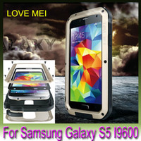 Wholesale Metal Aluminum frame Extreme Waterproof Shock resistance LOVE MEI Metal Case For Samsung Galaxy S5 S6 edge Note A8 A7 A5