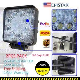 Wholesale 2x W LED Work Spot Light Off Road Lamp ATV Utility Truck SUV SQUARE