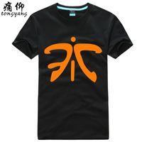 basic black group - Pain Yang cotton round neck short sleeve T shirt plus fertilizer XL LOL clan clan clothes fnatic group