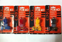 Wholesale new fox whistle emergency whistle WITH LANYARD in card Blister packing FOX40 whistle color to choose