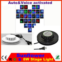 Wholesale New W LED V Auto amp Voice activated LED RGB mini Stage Light sunflower led light Bar Party Disco DJ Stage Lighting