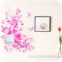 Wholesale Home Korean DIY creative fashion switch stickers beautiful flowers home decoration wall stickers affixed K2621 switch