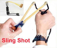 Wholesale 25pcs Sling Shot Camping Hunting Folding High Velocity Wrist Powerful Slingshot