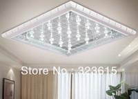 Cheap New Modern Fashion LED Square Glass Ceiling Lamp Chandelier Living Room Dinning Room Lighting 52cm