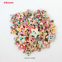 Cheap wholesale(Mixed pattern,200pcs lot) new wood buttons with star shape for crafts and scrabook-GJ1030