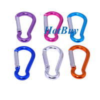 "Cheap Carabiner 1.5"" 4cm 2"" 5cm Aluminum Alloy locking Clip Camping Snap Hook Keychain okcbuy #2899"