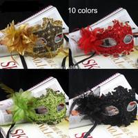 rhinestone mask - Exquisite Handmade Venetian Leather Rhinestone Flower Masquerade Party Mask Sexy Princess Dance Wedding Birthday Carnival
