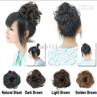 #2/33(Dark Brown) hair bun piece - Fashion Lady Chignon Synthetic Hair Piece Curly Contracting Bride Hair Accessories Wig Circle Wig Extension Pad For Hair Bun Hair Pieces