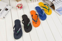 Wholesale Men s HAVAIANA Classical Branded Brazil Flag Multi Colors high quality Rubber Summer Beach Freedom Slippers Flip Flops Sandals