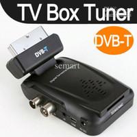 Cheap Wholesale - Digital Scart TV Box Tuner DVB-T Mini Freeview Remote Receiver Video HD TV Box
