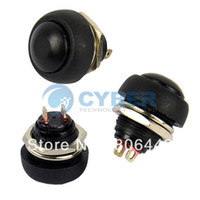 Cheap New 10Pcs Black Momentary OFF (ON) Push Button Switch Horn Free Shipping TK0304