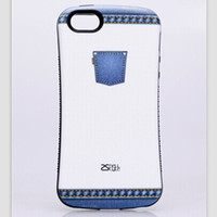 Cheap DHL shipping iface famous brand jeans Korean mobile phone protective shell for iphon5 iphone5s slip plastic + TPU shock drop resistance