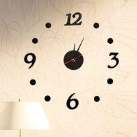 Wholesale Home Home DIY wall clock creative cute decorative acrylic material interesting bell digital K1480